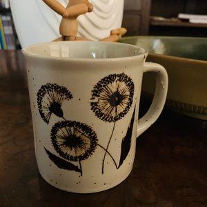 Vintage Japanese MCM Dandelion Mug